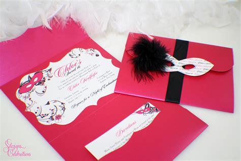 masquerade invitation frame shape sweet 16 quincea 241 era