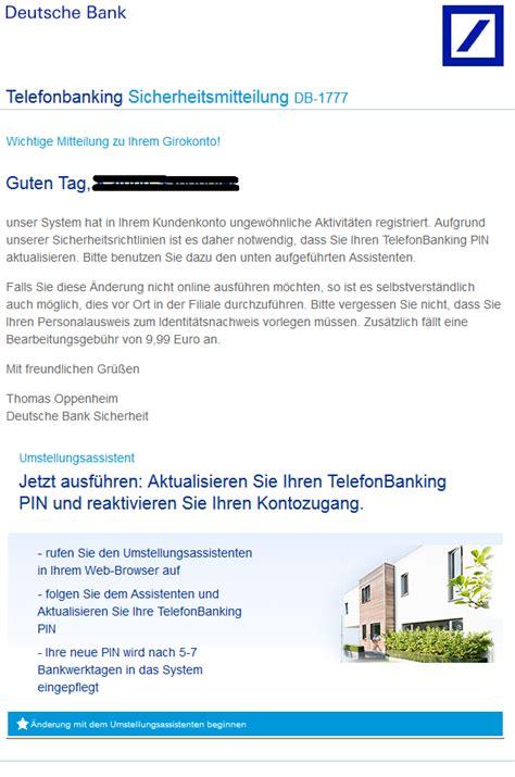 mail deutsche bank phishing mail alerts deutsche bank sicherheitsmitteilung