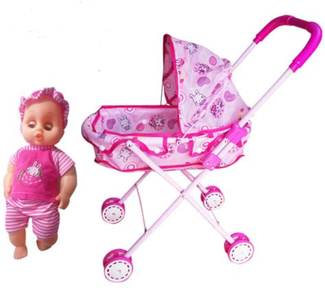 Dolls Iron Pink Stroller Pushchair Pram compare prices on dolls pushchairs shopping buy