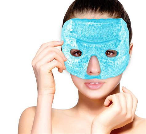 icy hot under eyes eye mask gel beads hot cold compress pack