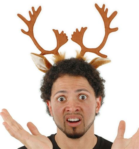 rudolf the red nose reindeer antlers headband hat