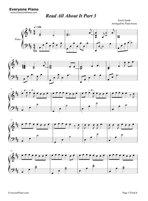 tutorial piano emeli sande read all about it read all about it emeli sande stave preview 1 free piano