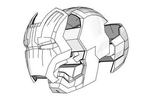 Iron Helmet Papercraft Pdf - new paper craft iron xlii 42 helmet ver