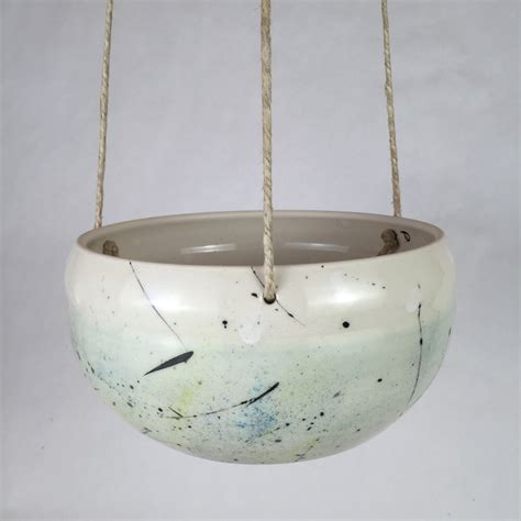 hanging ceramic planter large handmade ceramic hanging planter indoor hanging planter