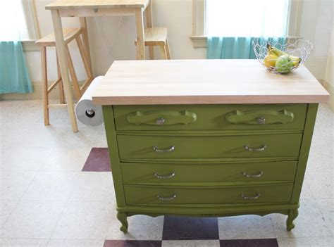 dresser kitchen island diy easy diy kitchen island ideas on budget