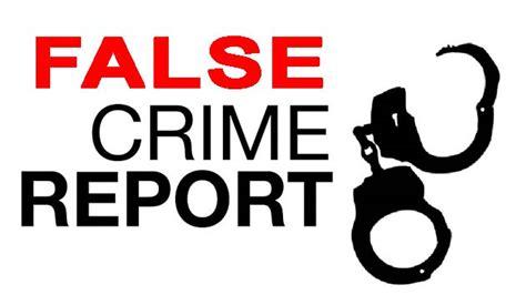 False Reports On by Caution Against False Crime Reports Caribantigua