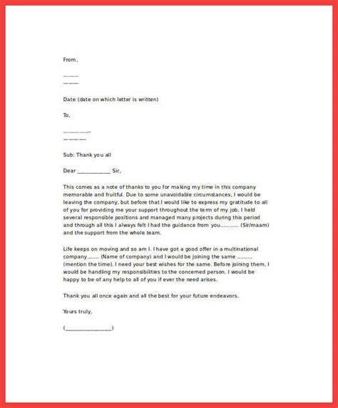 Thanks Letter After Resignation by Thankful Resignation Letter Memo Exle