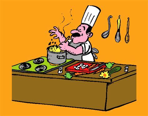cuoco in cucina disegno cuoco in cucina colorato da utente non registrato