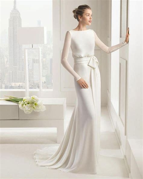 wedding gowns with sleeves simple wedding gown with sleeves ipunya