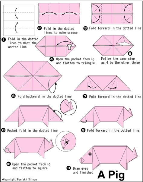 How To Make An Origami Things - origami pig stuff