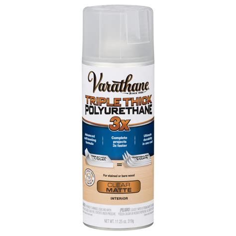 spray paint polyurethane varathane 11 oz matte thick polyurethane spray