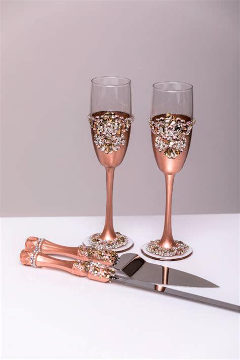 Wedding Cake Knife Australia by Gold Wedding Glasses And Cake Server Set Cake Knife