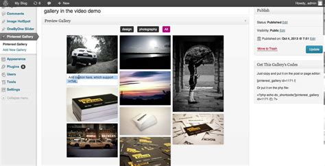 pinterest style layout wordpress plugin pinterest grid gallery wordpress plugin youtube