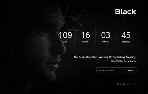 black html5 coming soon web template webthemez