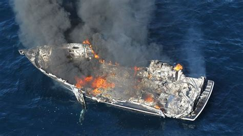 explosion on a boat three rescued after boat explosion off nsw