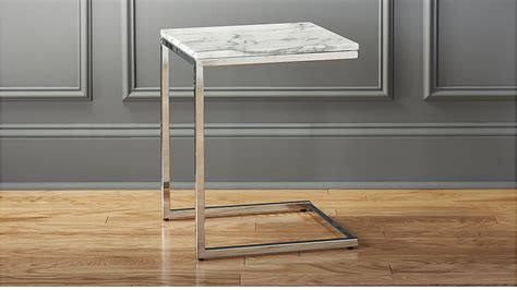 table c smart marble top side table cb2