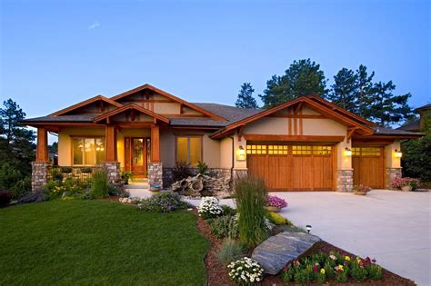 One Story Cottage Style House Plans craftsman ranch home exterior home design ideas