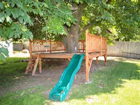 backyard cing ideas for children 25 best ideas about deck around trees on tree