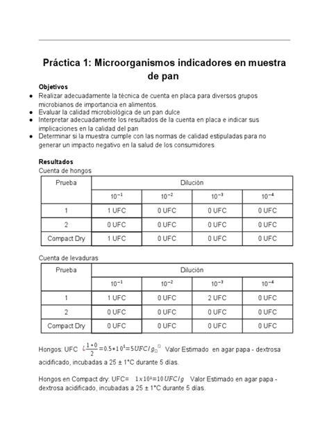 Práctica 1- microorganismos indicadores