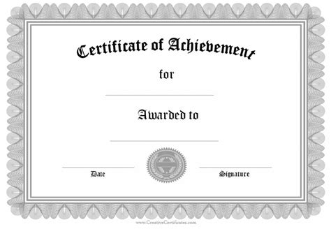certificate template free completion template word free certificate templates