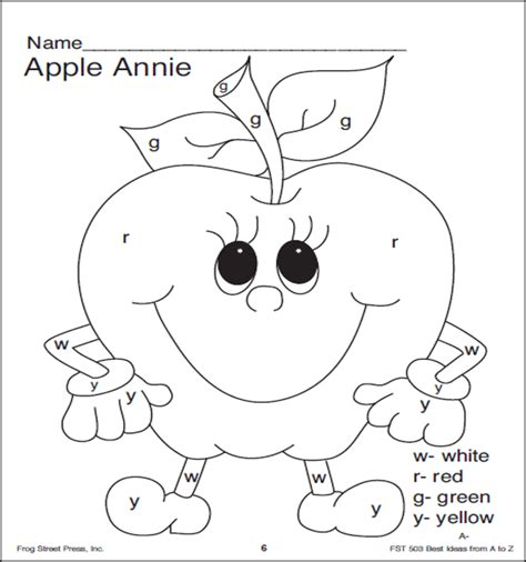 printable friday apple coloring pages apple
