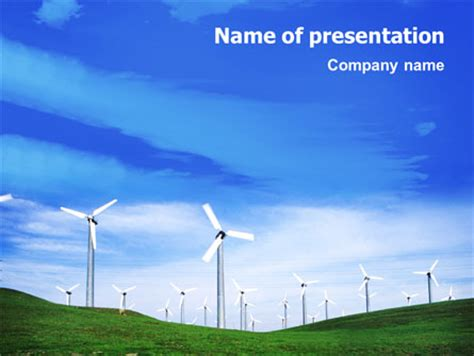 powerpoint themes wind energy wind energy presentation template for powerpoint and