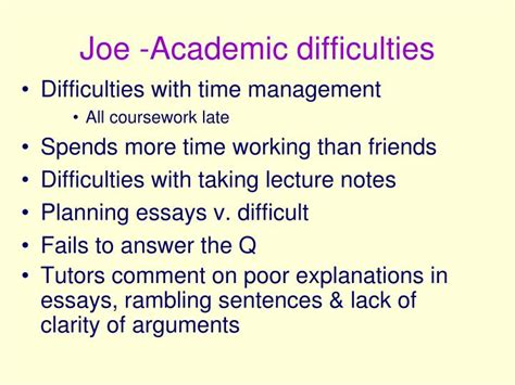 Academic Difficulties Essay by Ppt Dyspraxia Developmental Coordination Disorder Powerpoint Presentation Id 156481