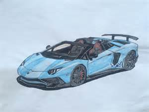 Drawing Lamborghini Aventador My Drawing Of The Lamborghini Aventador Sv Roadster