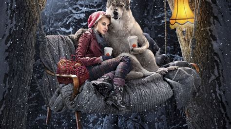 jean swing hd wolf drinking coffee with little red riding hood