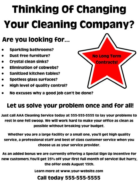 commercial cleaning flyer free