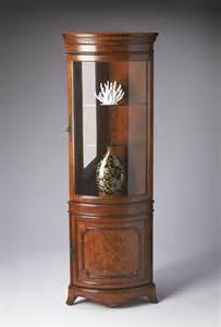 Lighted Curio Cabinet Buy Masterpiece Corner Curio Cabinet By Butler From Www