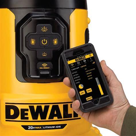 dewalt portable work light dewalt flexvolt dcl070 bluetooth led area worklight