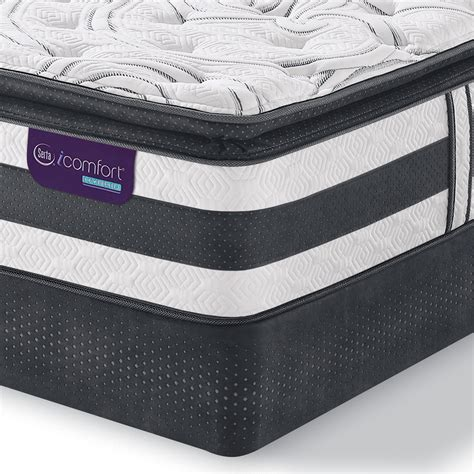 Serta King Pillow Top Mattress by Serta Icomfort 92460 Hybrid Observer Pillow Top