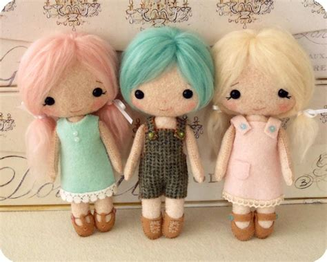 pattern sewing doll cotton candy dolls by gingermelon sewing pattern