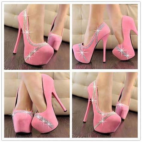 imagenes de zapatillas rosas tacones rosa pastel 5