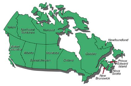 canada states map road map of united states and canada