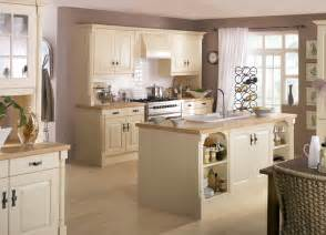 attractive Traditional Cream Kitchens #1: Country-Kitchen-Cream.gif