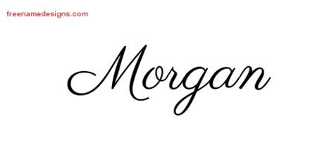 morgan archives free name designs