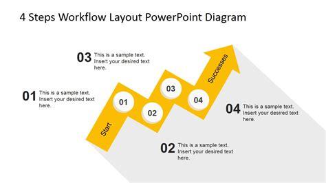 4 step circular growth diagram for powerpoint slidemodel 4 steps workflow layout powerpoint diagram slidemodel