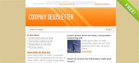 orange email marketing newsletter template psd file
