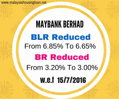 maybank housing loan interest rate maybank lowers base rate base lending rate and saving rate malaysia housing loan