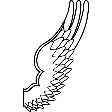 Bird Wings Outline by Bird Outline Drawing Cliparts Co
