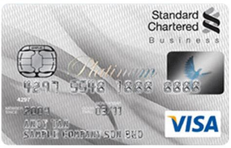 Credit Card Application Form Standard Chartered Bank Standard Chartered Bank Business Visa Platinum Credit Card Malaysia Credit Card