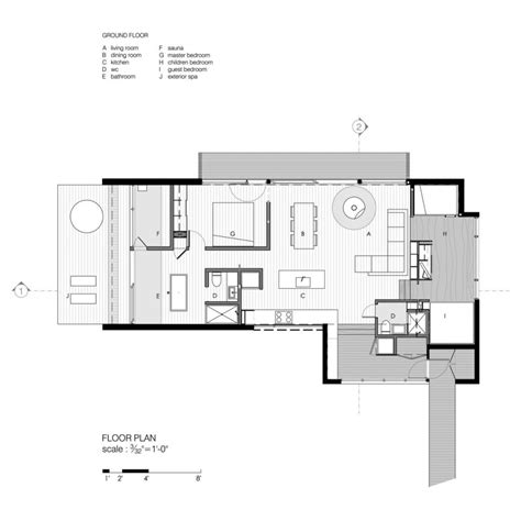 cabins floor plans gallery la luge a modern ski cabin in quebec
