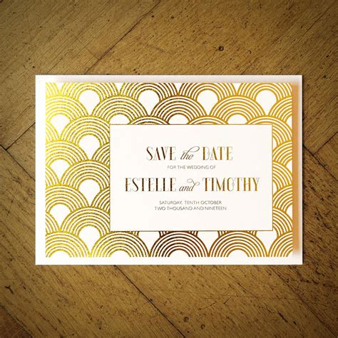 Wedding Invitations Gatsby by Great Gatsby Wedding Invitation By Feel Wedding