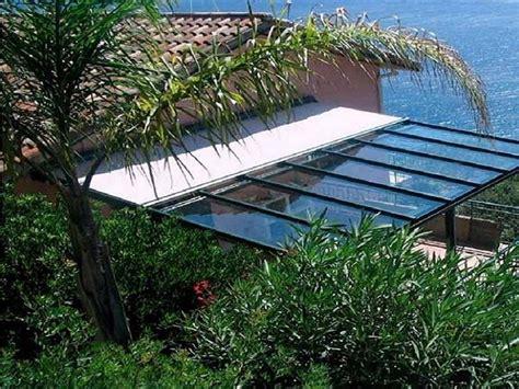 tettoie in vetro prezzi copertura in vetro pergole e tettoie da giardino