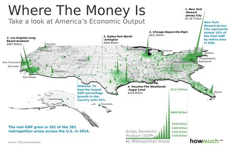 map us metropolitan areas this 3d map visualizes the u s economy in a new way