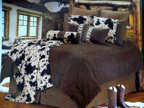 cowhide comforter set western bedding tooled cowhide 5 piece king western