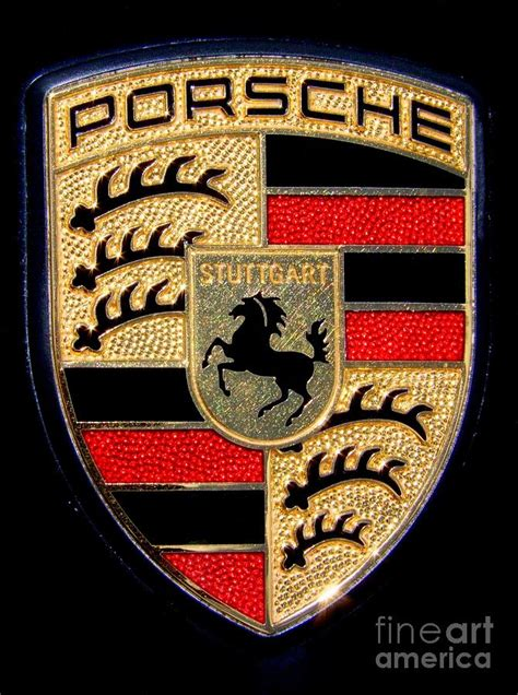 porsche usa emblem porsche emblem by mary deal