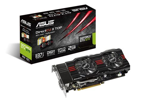 Graphic Card Laptop Asus Asus Reveals The Geforce Gtx 670 Directcu Ii Top Graphics Card